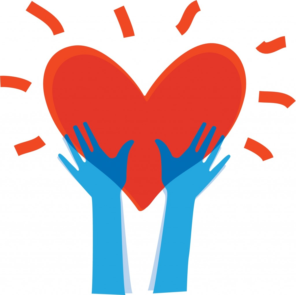 COLOURBOX1525439 getreckte Hände zum Herz  'Illustration des menschlichen Hände mit Herz in ihm'