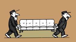 Umzug eines Sofas