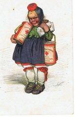 Mädchen mit Spendendosen